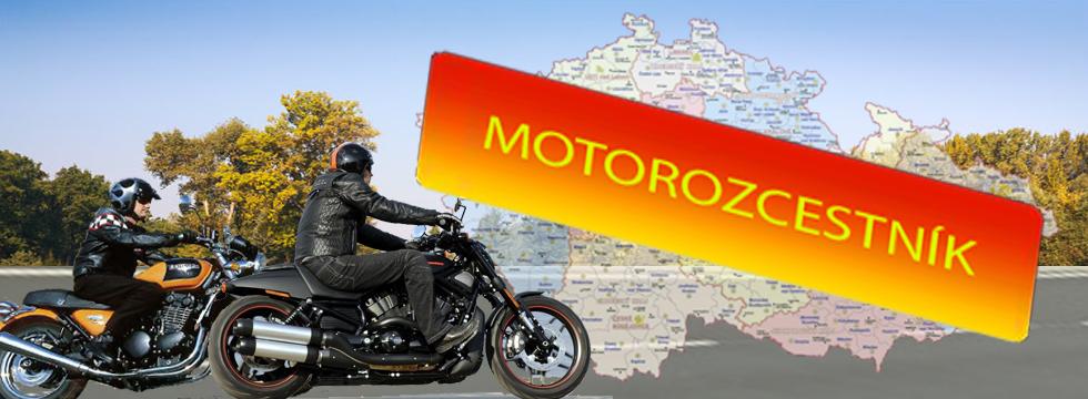 Motorozcestník - mapa České republiky